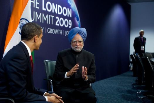 Dr. Manmohan Singh with Obama